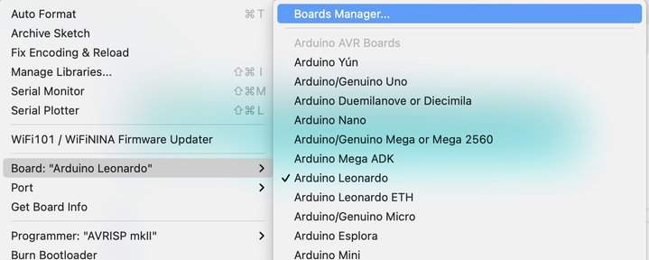 Boards Managerの選択